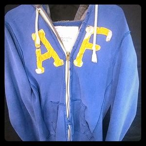 Vintage Abercrombie thermal zip heavyweight hoodie